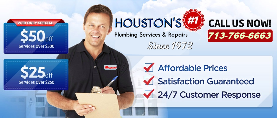 Best plumbers in houston yb plumbing 24 hour houston for Plumber 77080